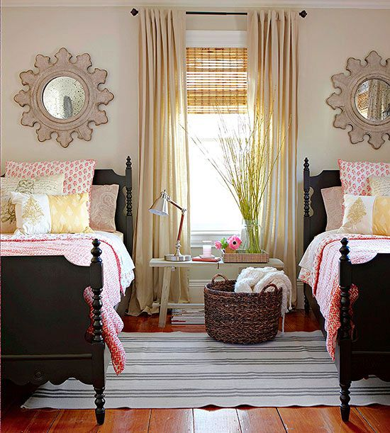 Pretty, Cozy Shared Bedroom hand picked by Provident Home Design.