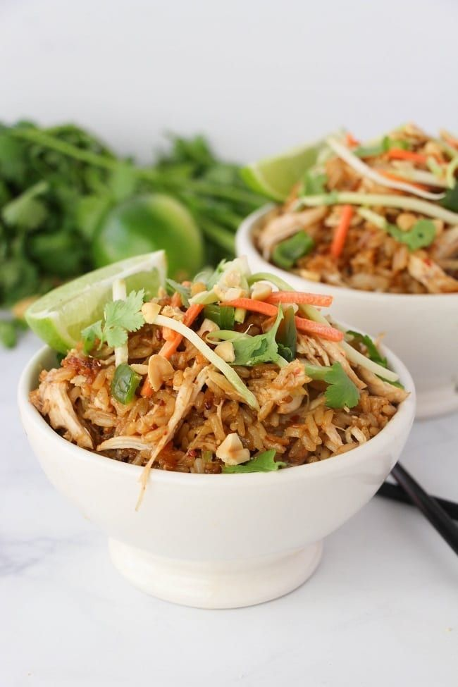 If you like Thai food, you'll love these Instant Pot Thai Chicken Rice Bowls. The best thing about them is that since they're made in the Instant Pot, they co