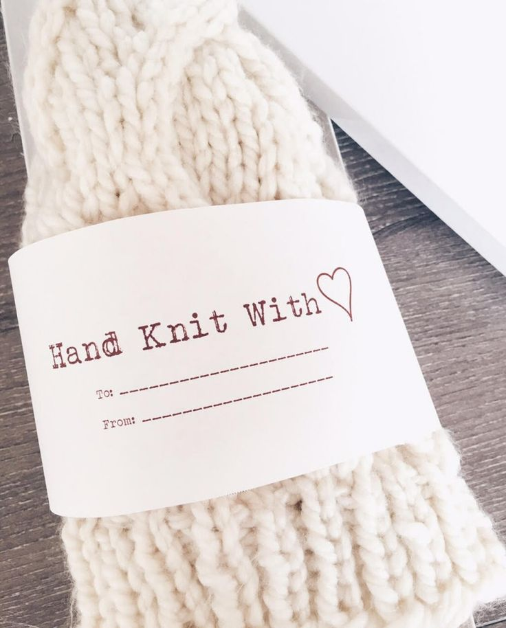 Knitting Labels Hand Knit By : Best images about gift labels on pinterest crochet