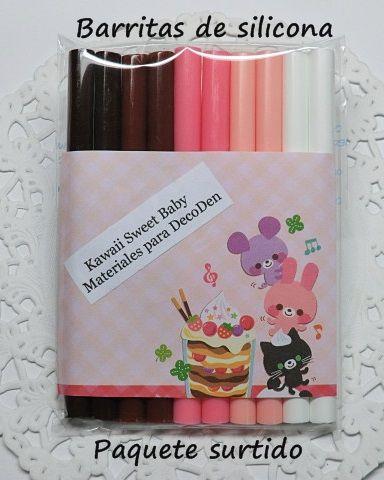 Barritas de silicona paquete con 5 colores