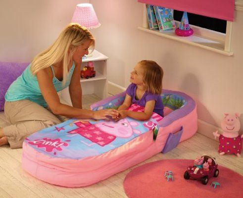 ReadyBed Peppa Pig Airbed and Sleeping Bag in One - Pinks and Purples