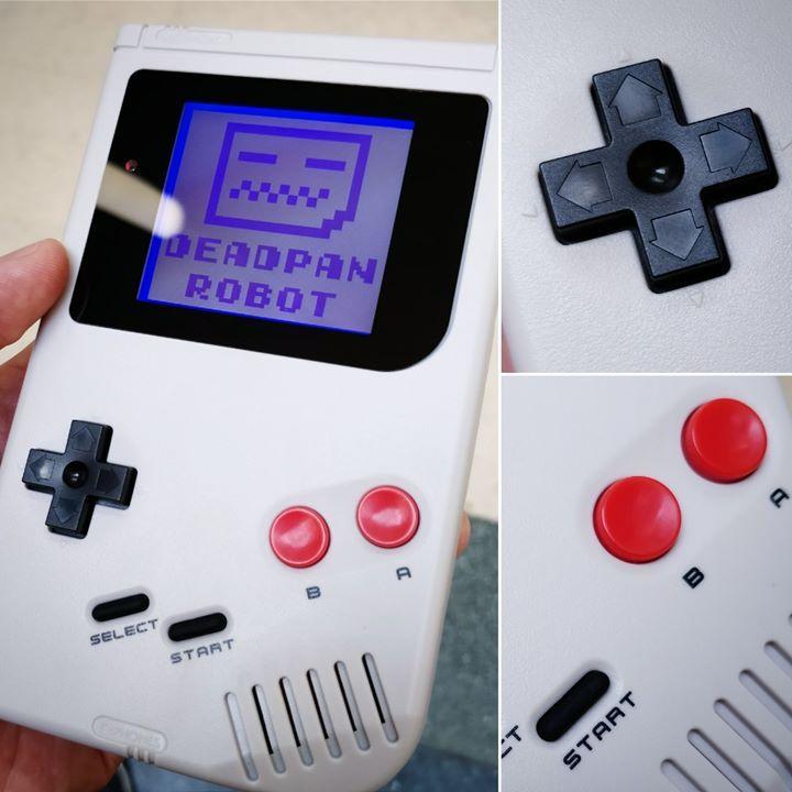 NES style DMG   White Backlight Bivert Mod Black Custom
