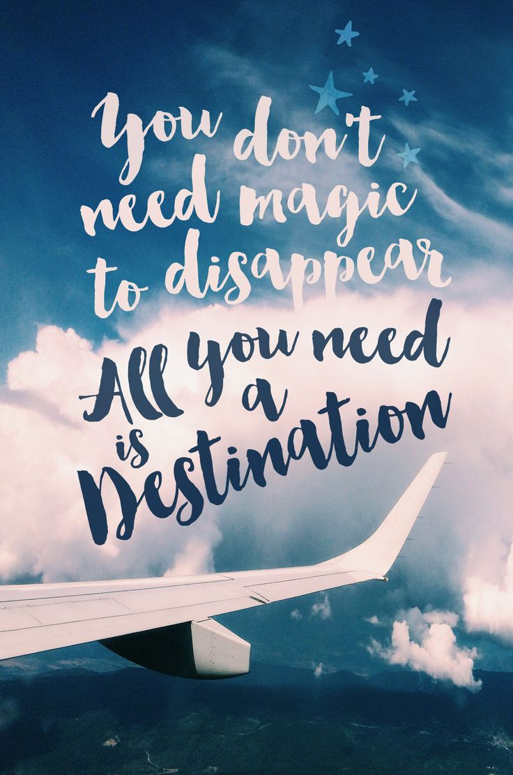 You don't need magic to disappear, all you need is a destination // Travel Quote Phone Cases @seattlestravels