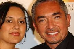 Cesar Millan with his wife