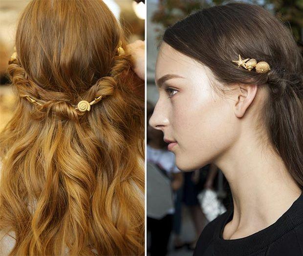 αξεσουάρ μαλλιών άνοιξη καλοκαίρι 2015 τάσεις μόδας little mermaid fairy folk style hair for tousled long locks festival style