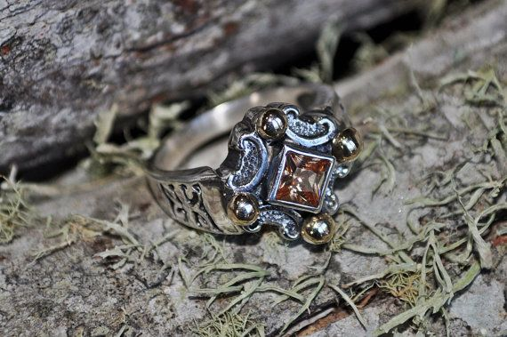 Medieval inspired 9ct gold and sterling silver by SusanRoosJuwele