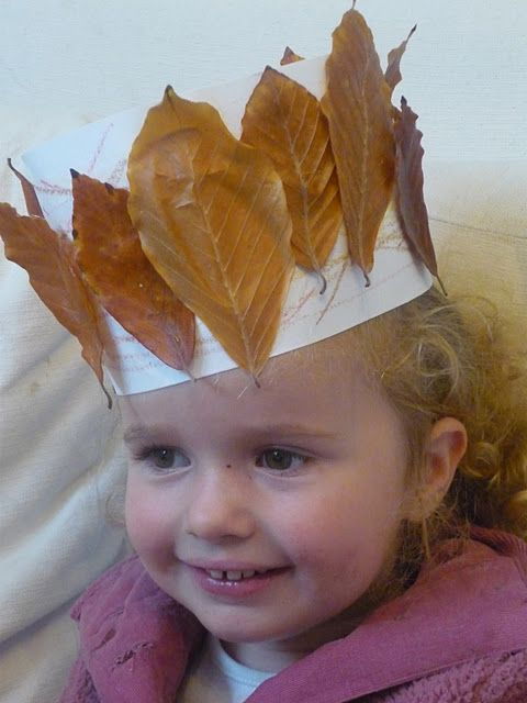 Autumn leaf crown (could also be done in a spring version)