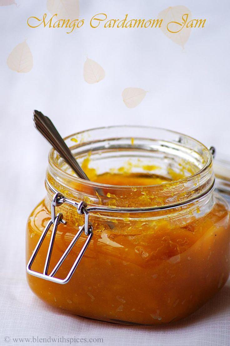Homemade Mango Cardamom Jam Recipe (no pectin) - Step by Step Recipe