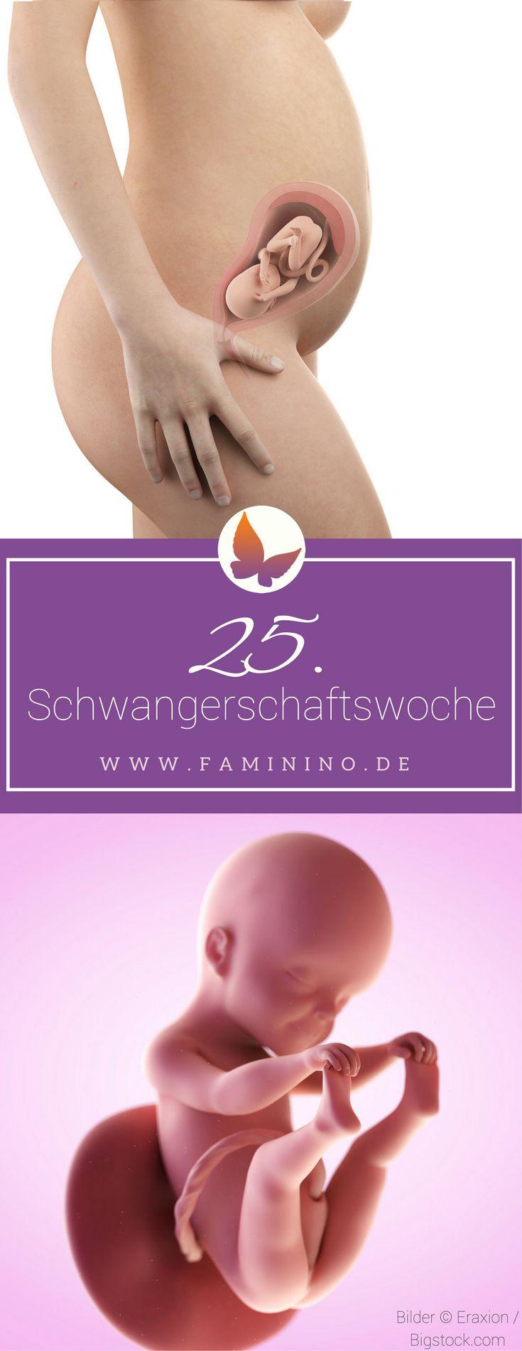 25. SSW (Schwangerschaftswoche): Dein Baby, dein Körper, Beschwerden und mehr