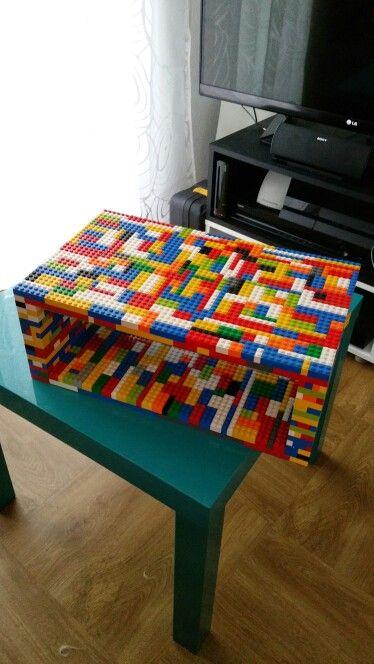 Meuble pour console ou lecteur blu Ray entièrement en lego