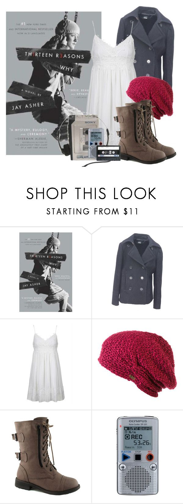 Thirteen Reasons Why - Jay Asher by macmgryffindor on Polyvore featuring Topshop, J.Crew, Top Moda and Krochet Kids