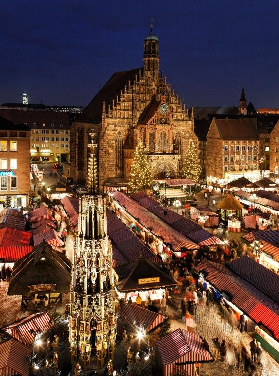 The Christkind opens Nuremberg's famous Christkindlesmarkt on the Hauptmarkt square in the old quarter. Soak up the medieval charm and the aroma of gingerbread, Nuremberg bratwurst and glühwein. The Nuremberg Kinderweihnacht is the children's market and has an old-fashioned carousel, Ferris wheel and steam train. The Nativity scene trail runs between the two markets.