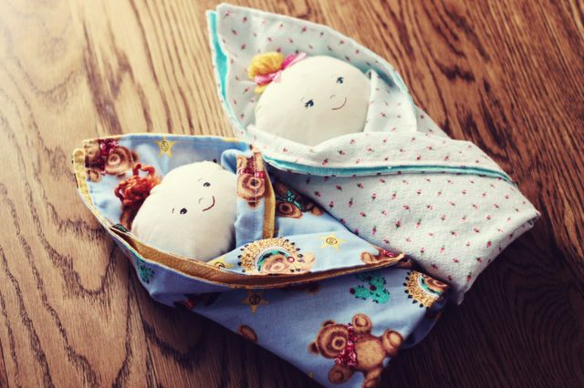 Swaddle Babies--these are sooo freaking cute.  I had one made of a lacy white hankie when I was little.  The idea was for children to play with them in church, being completely soft, if you dropped it on the wooden floor, it made no loud thunk.