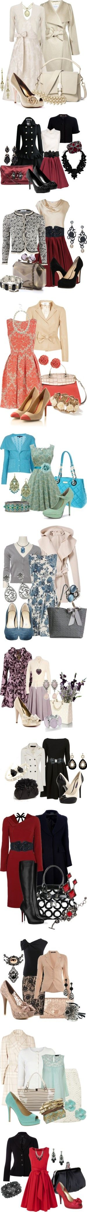 Let's Play Dress Up by stylesbyjoey on Polyvore featuring MaxMara, 1928, Phase Eight, Wallis, Theory, Banana Republic, Paris Hilton, brocade dresses, shrugs and coats