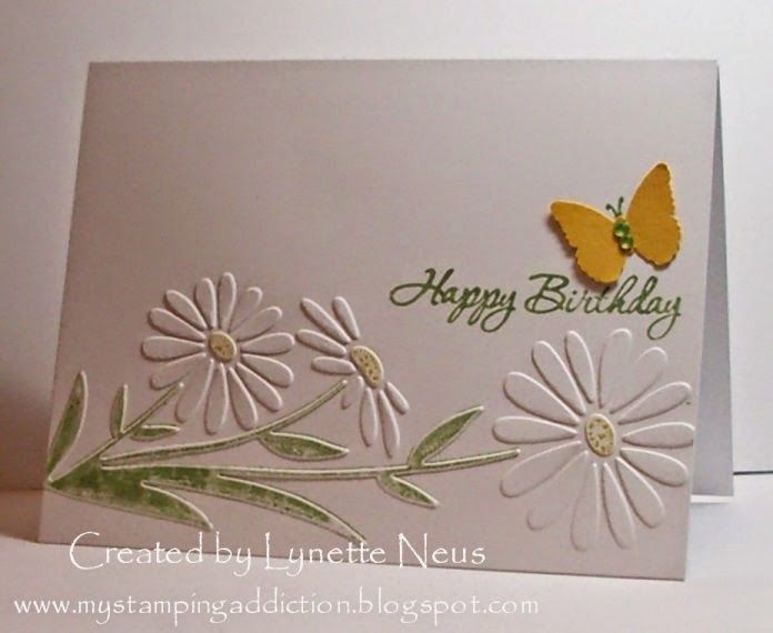 Ordinary Card Making Ideas With Embossing Folders Part - 4: My Stamping Addiction: Embossed Daisies (I Like That The Embossing Folder  Is Used Horizontal Vs Vertical.