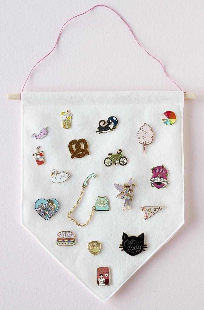DIY Enamel Pin Banner