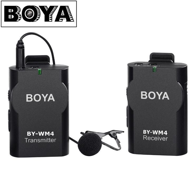 BOYA BY-WM4 Wireless Lavalier Microphone system for Canon Nikon Sony Panasonic DSLR Camera Camcorder iphone android smartphone //Price: $104.93     #electronic
