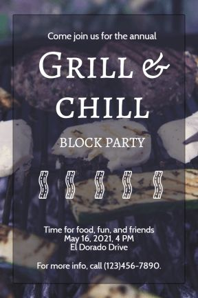 Design amazing party invitations on PixTeller.com #templates #images #photomaker #celebration #inspirational #grill #barbeque