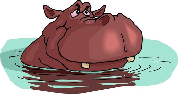 Cartoon Hippo_Madagascar Hippo Cartoon_Hippo In Desert Cartoon