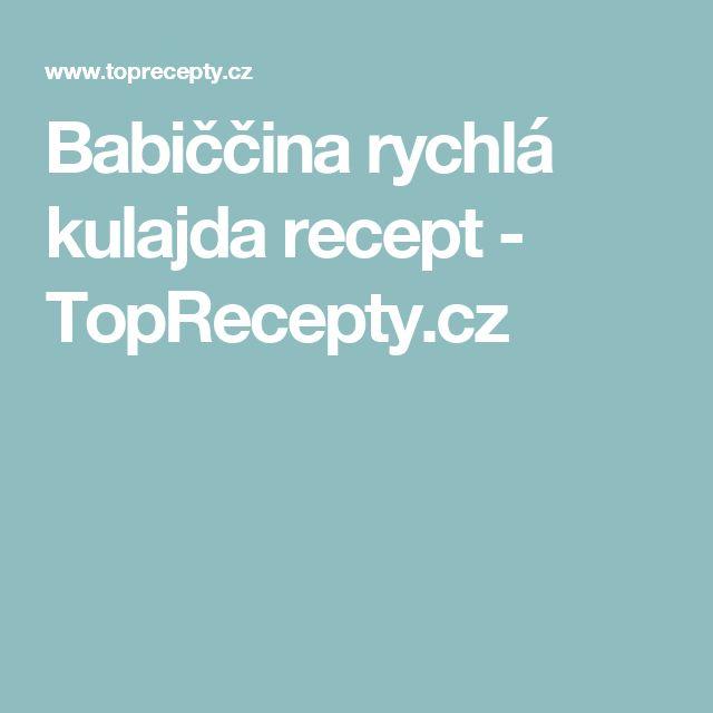 Babiččina rychlá kulajda recept - TopRecepty.cz
