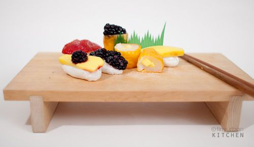 17. Sweet eats or savory treats  I love sushi, not everyone does...but a play on it with Fruit Sushi is a sweet surprise and can add a lot of color and special presentation to your desert table! This DIY is perfect to show you how to make it!  #modcloth #wedding