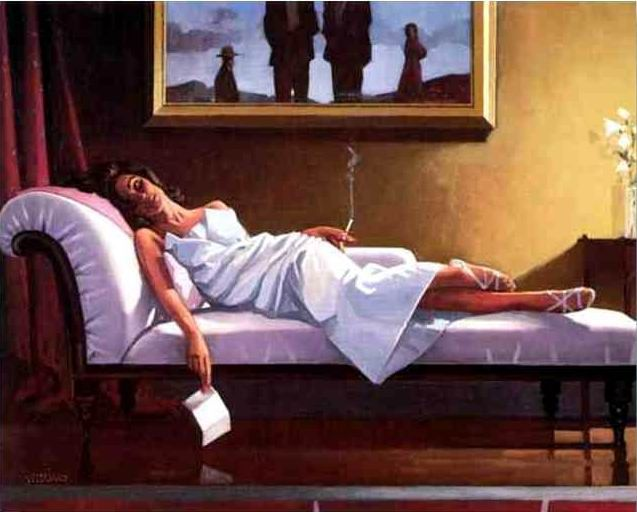 The Letter  Creative people are stifled somehow by domesticity. They need to have late nights and bad mornings.     Jack Vettriano