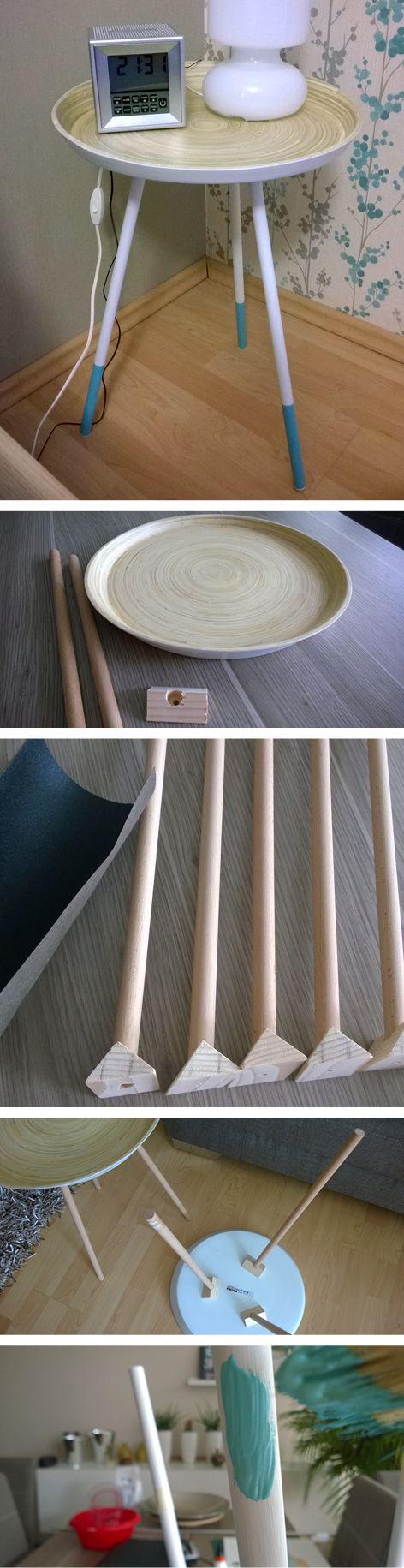 Stunning IKEA hack DIY Nachttisch Beistelltisch aus IKEA Schale Vin ger I DIY nightstand made