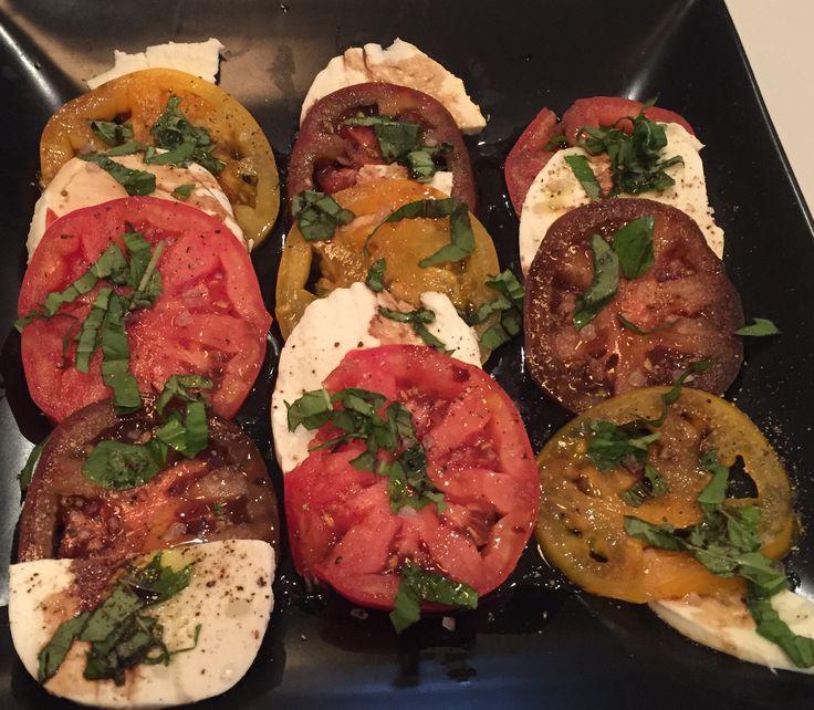 Caprese Salad (Carbonara Leftovers)