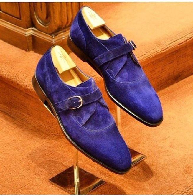 Handmade Royal Blue Color Luxury Dress