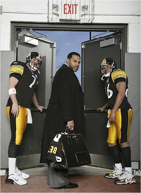 "Jerome Bettis ""packing up & saying goodbye pic."" Probably the saddest moment of my life in Steelers history."