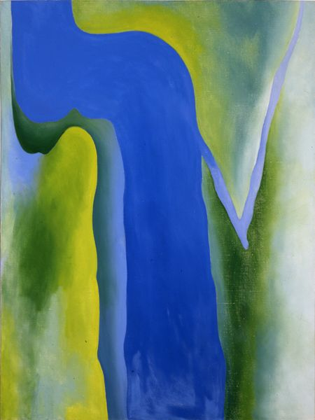 Georgia O'Keeffe - On the River (From the River Light Blue), 1964, oil on canvas, 40x30 in, 101.6x76.2 cm