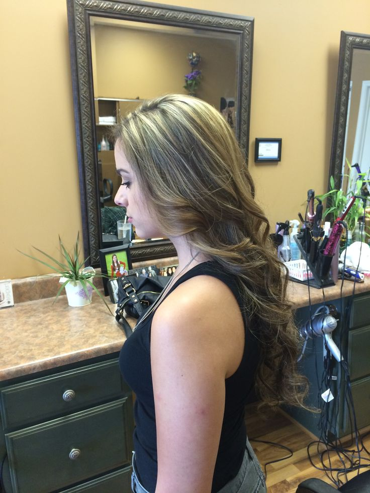 Brunette with Highlights | My creations - Hair and Makeup | Pinterest