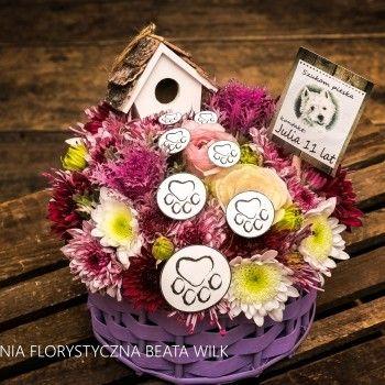 Kosz Kwiatowy Kosz urodzinowy dla dziecka