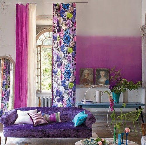 12 besten Ombre wall Bilder auf Pinterest Wandgestaltung, Haus und - moderne wandgestaltung wohnzimmer lila
