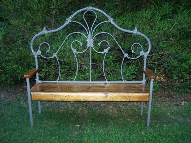 bench from iron head board
