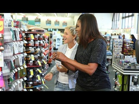 Ellen and First Lady Michelle Obama Go to CVS - YouTube