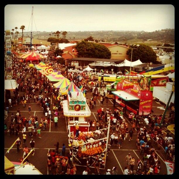 The Del Mar Fair From The Ferris Wheel.