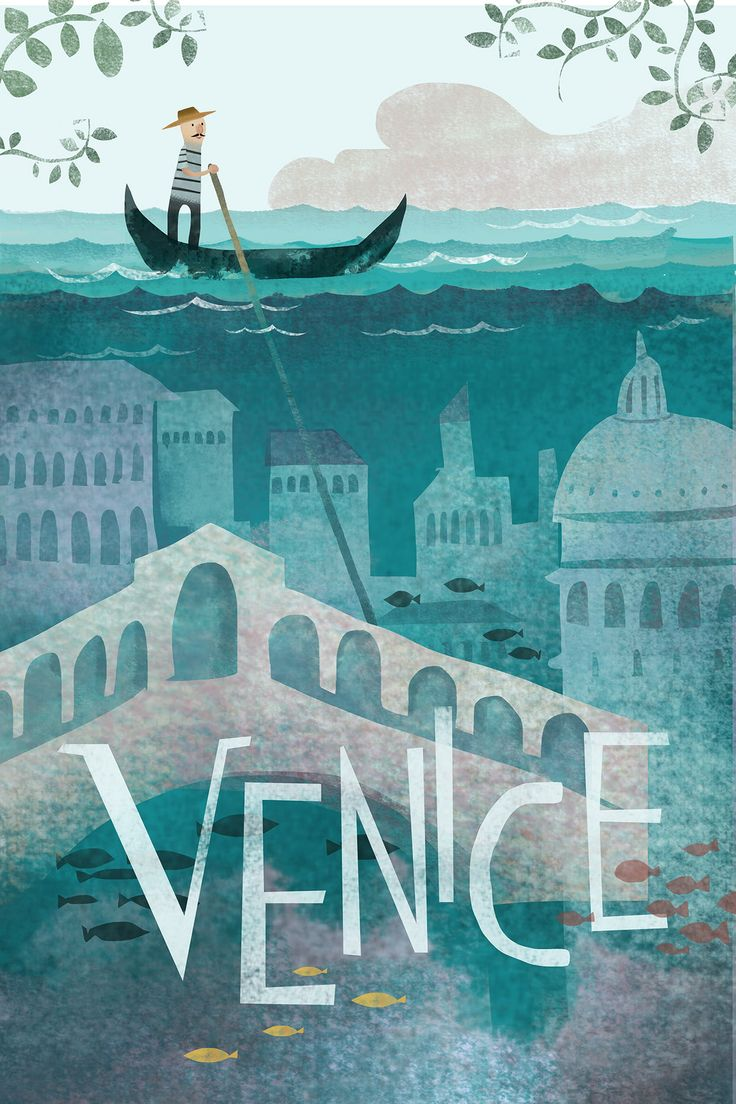 "Travel Poster ""VENICE"" on Behance"