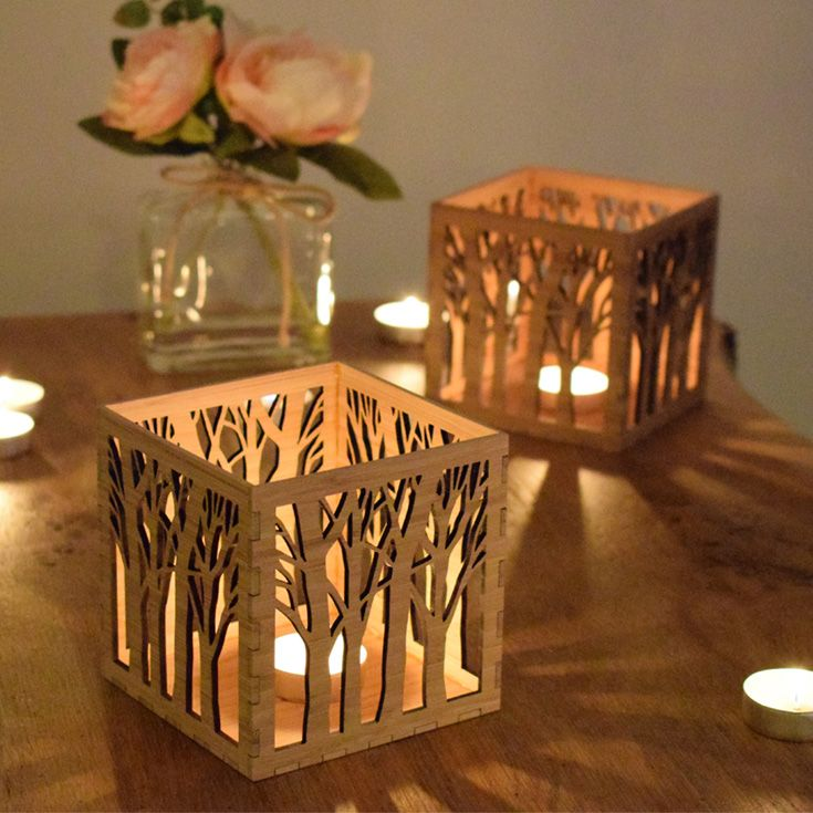 Our eco-friendly hand finished tree tealight lanterns are perfect for adding ambience to your home, and can also be personalized to give as a unique gift. Great for a housewarming gift, 5th Anniversary or any special occasion.