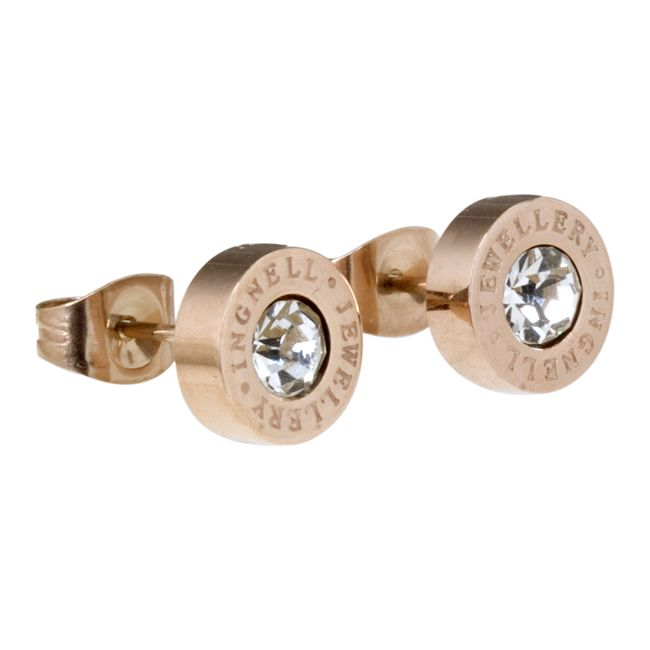 Ingnell Jewellery - Ellie stud rose. Stainless steel. www.ingnelljewellery.com