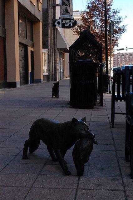 Statues downtown - Wichita, Kansas