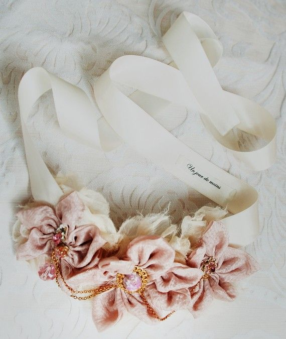 Romantic Silk Satin Flower Necklace My Addiction Pinterest