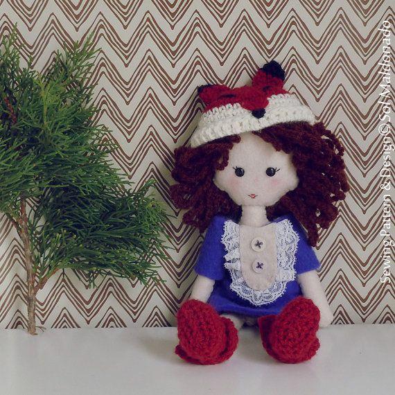Fox Felt Doll Crochet & Hand Sewing Pattern photo