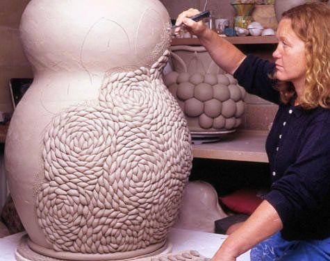 Amazing texture. Kate Malone.