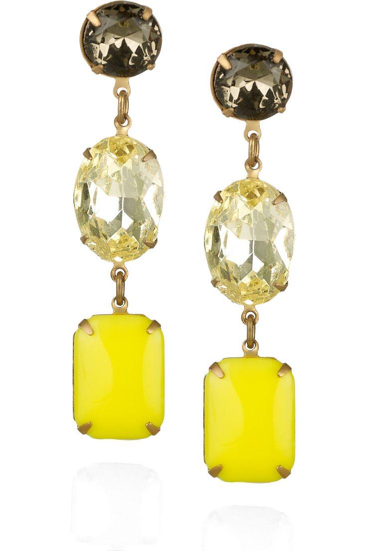 Vintage Glass Drop Earrings by Lulu Frost #Earrings #Lulu_Frost