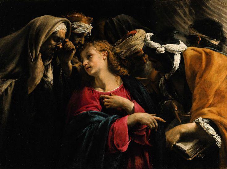 Rijksmuseum Amsterdam: (attributed to) Orazio Borgianni, Christ Among the Doctors, 1631