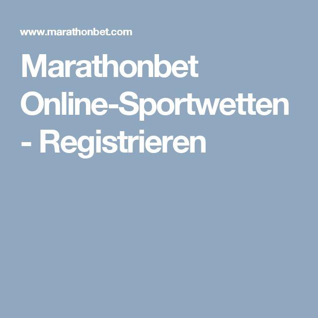 Marathonbet Online-Sportwetten - Registrieren