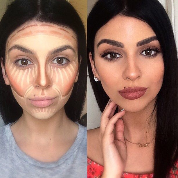 Contour Lines Makeup Before And After Www Pixshark Com