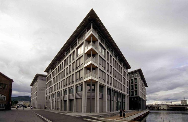TMV-Odden: Naturstein i fasader er levert av Naturstein Montering AS på Sundvollen i Hole Kommune
