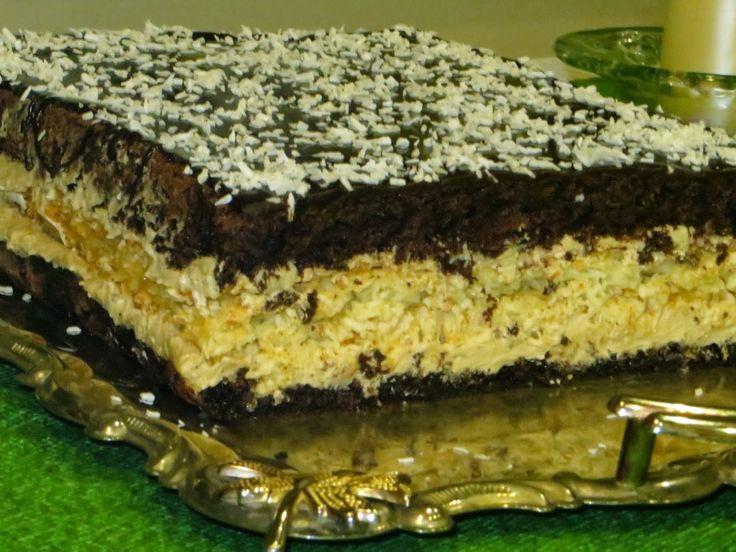 Domowe ciasta i obiady: Ciasto Cappuccino z kokosem
